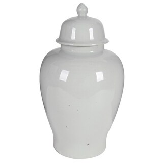 Ceramic Ginger Jar With Lid, White