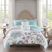 510 Design Gratia Aqua 5 Piece Reversible Print Duvet Set