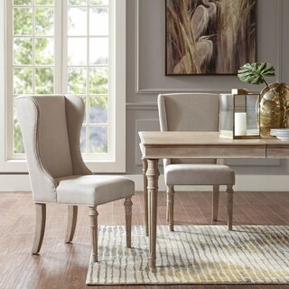 """Madison Park Signature Napa Beige Dining Side Chair (set of 2) - 22.75""""w x 24.5""""d x 40""""h (2)"""