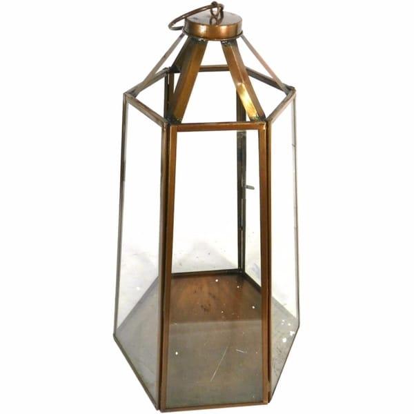 Metal Lantern, White