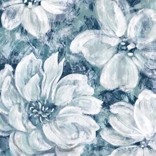 Graceful Flowers Framed Wall Art, White/Blue
