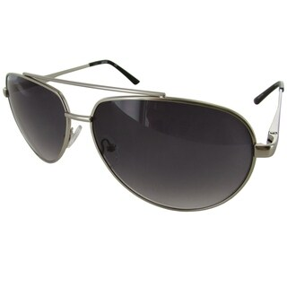 Kenneth Cole Reaction Mens KC1247 Metal Aviator Fashion Sunglasses, Silver/Smoke