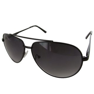 Kenneth Cole Reaction Mens KC1247 Metal Aviator Fashion Sunglasses, Black/Smoke