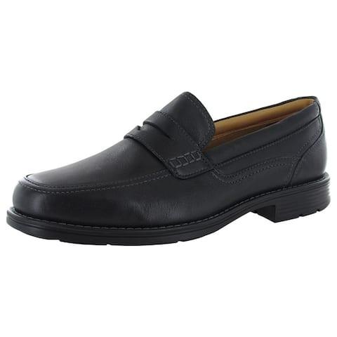 Rockport Mens Liberty Square Penny Slip On Loafer Shoes, Black