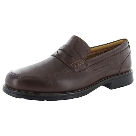 Rockport Mens Liberty Square Penny Slip On Loafer Shoes Brown