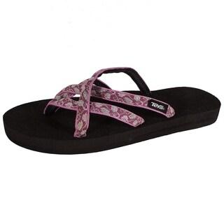 Teva Womens Olowahu Webbing Flip Flop Sandal Shoes, CBR