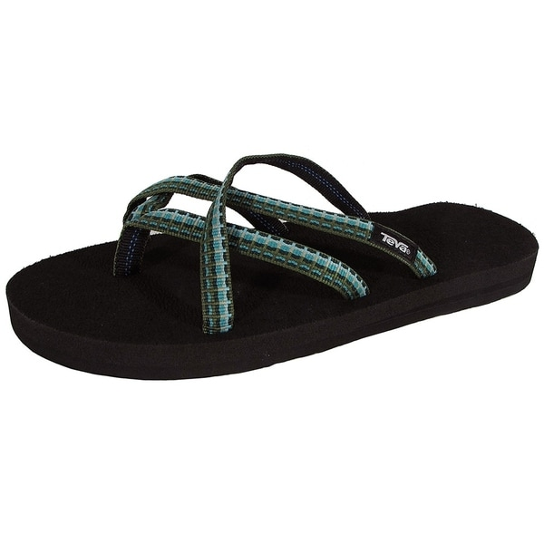 26b981447063fe Shop Teva Womens Olowahu Webbing Flip Flop Sandal Shoes