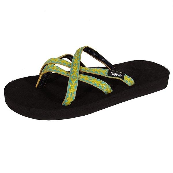 62d423181 Shop Teva Womens Olowahu Webbing Flip Flop Sandal Shoes
