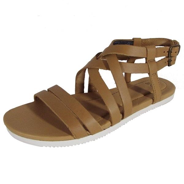 f5afe7c2681e Shop Teva Womens Avalina Crossover Leather Flat Sandal Shoes