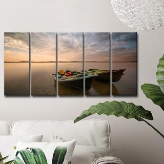 Ready2HangArt 'Boats' 5-Pc Canvas Wall Décor Set - Multi-color