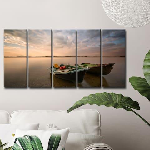 Ready2HangArt 'Boats' 5-Pc Canvas Wall Décor Set