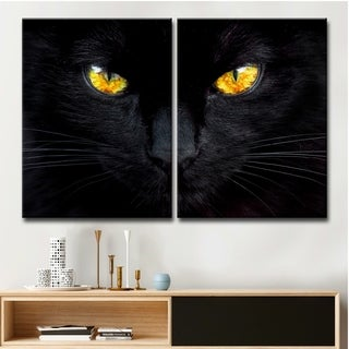 Ready2HangArt 'The Hypnotist of the Night' 2-Pc Canvas Wall Décor Set - Black