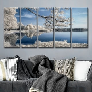 Ready2HangArt 'IRenkowo' 5-Pc Canvas Wall Décor Set - Blue