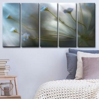 Ready2HangArt 'Jasmine' 5-Pc Canvas Wall Décor Set - Grey