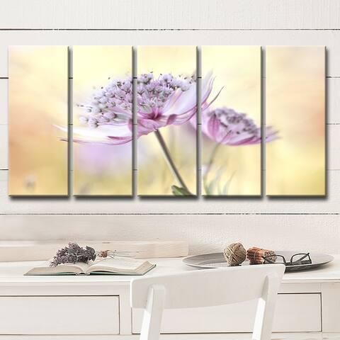 Ready2HangArt 'Pink Astrantia' 5-Pc Canvas Wall Décor Set