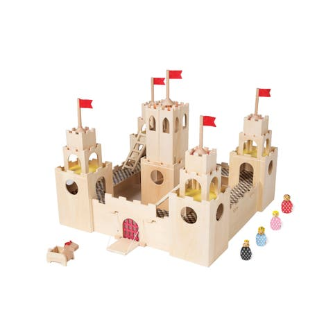 Manhattan Toy MiO Wooden Castle + Horse + 4 people Imaginative Play Kit