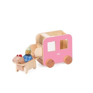 Manhattan Toy MiO Wooden Carriage + Horse + 1 Person Imaginative Play Kit