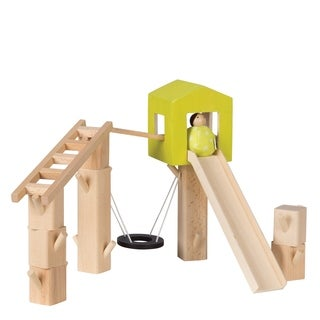 Manhattan Toy MiO Wooden Tree Fort + 1 Person Imaginative Play Kit
