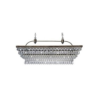 The Weston 40 Inch Rectangular Glass Drop Chandelier (4 options available)