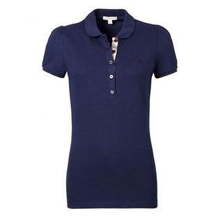 Women's Burberry Navy Blue Polo Shirt