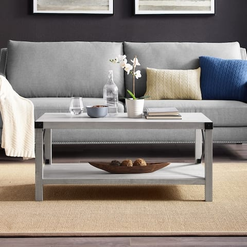 The Gray Barn Kujawa Metal X Coffee Table