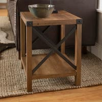 The Gray Barn Kujawa 18-inch Rustic Farmhouse Side/ End Table - 18 x 18 x 22h