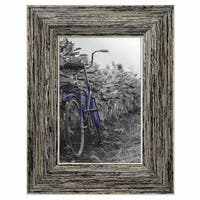 Americanflat 2-Pack, 4x6 inch Tan Rustic Picture Frame with Easel, Made for Wall and Table Top Display