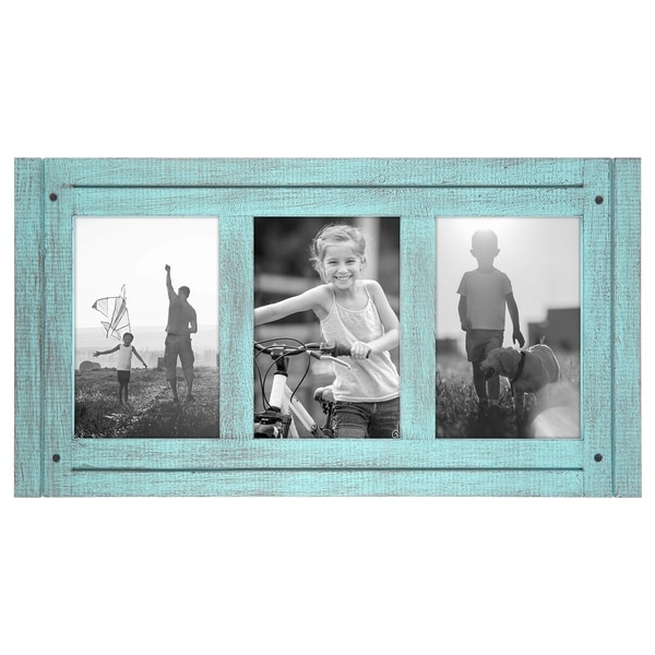 Shop 4x6 Turquoise Blue Collage Distressed Wood Frame Made To