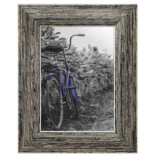Americanflat 2-Pack, 5x7 inch Tan Rustic Picture Frame with Easel, Made for Wall and Table Top Display