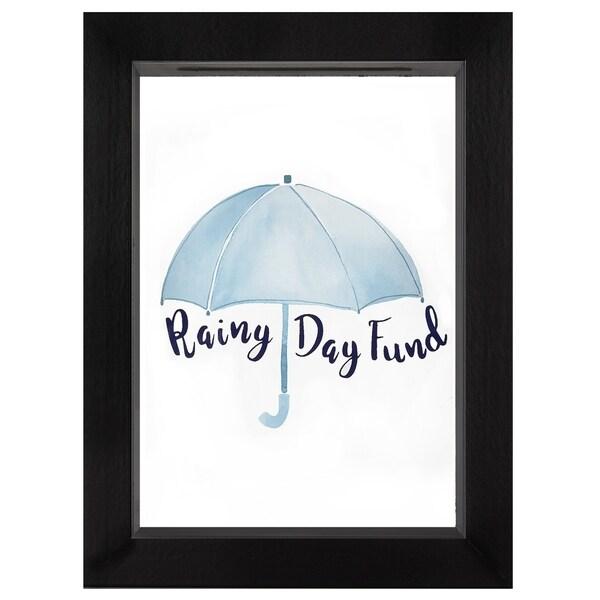 Americanflat Rainy Day Fund Decorative Shadow Box Frame, Glass Size 5 x 7-inch