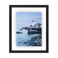 Americanflat 11x14 Inch Floating Frame - Modern Picture Frame Designed to Display a Floating Photograph, Black