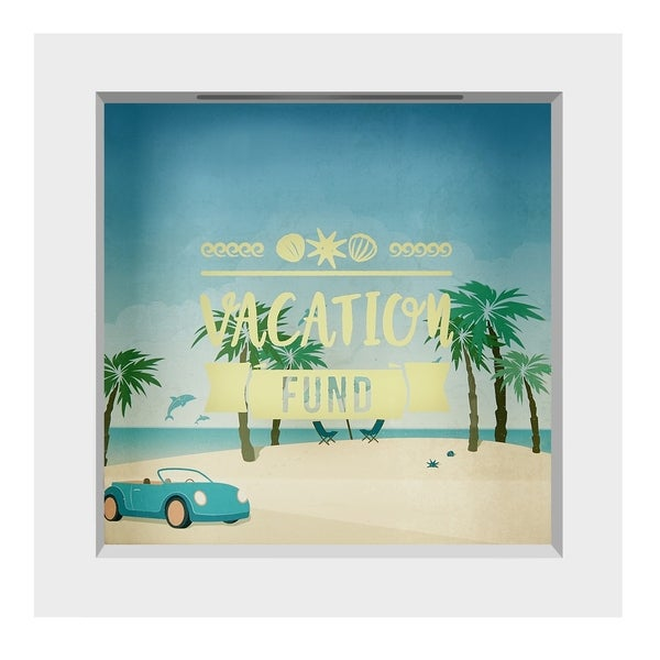 Americanflat Vacation Fund Shadow Box Frame, 6 x 6-inch