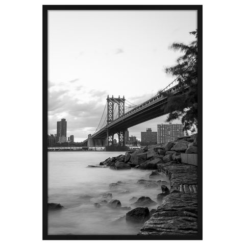 24x36 Black Poster Frame - Designed to Display Vertically or Horizontally on a Wall - Plexiglass Front