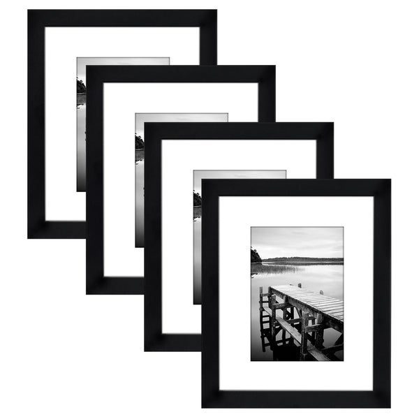 Shop 4 Pack 8x10 Black Picture Frames Made To Display Pictures