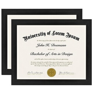 2-Pack, 8.5x11 Inch Document Frames - Made to Display Certificates, Documents, and Standard Papers