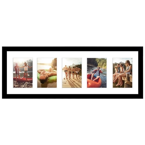 Black Collage Picture Frame with 5 Openings; Made for 4x6-inch ...