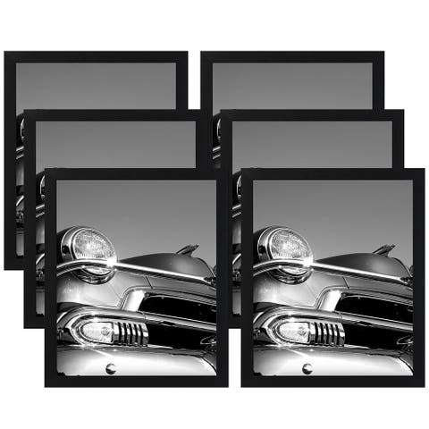 """Americanflat 6 Pack - 18x24 Black Picture Frames - 1.5"""" Wide"""