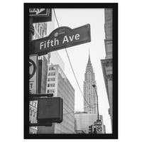 Americanflat 13x19 Black Poster Frame - Designed to Display Vertically or Horizontally on a Wall - Plexiglass Front