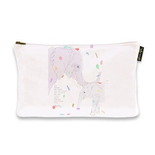 Oliver Gal 'Maggie P Chang - Elephants - Purple' Pouch
