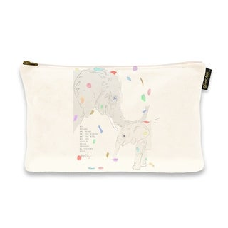Oliver Gal 'Maggie P Chang - Elephants - Cream' Pouch