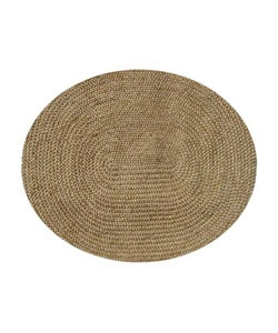 Hand Braided Natural Jute Oval Rug (4'6 x 6')