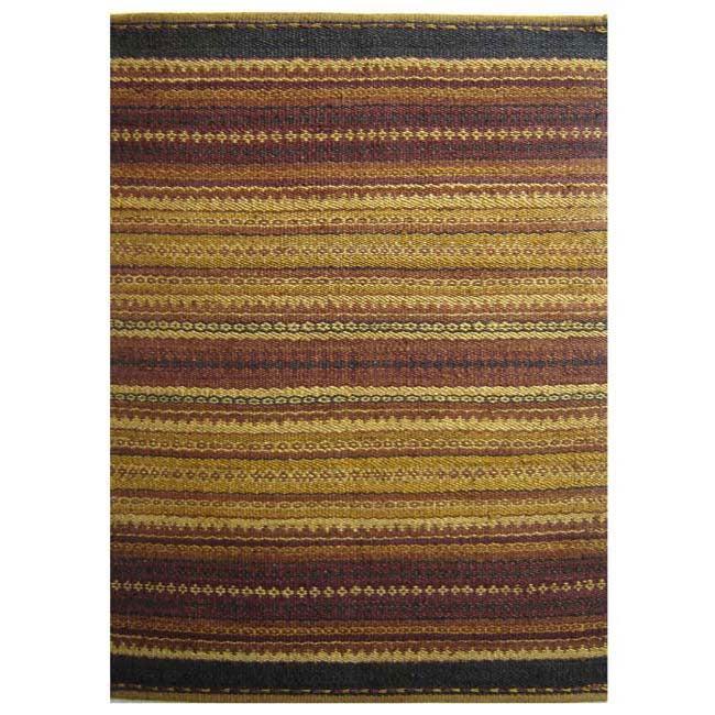 Hand-woven Mohawk Rust Jute Rug (4' x 6')