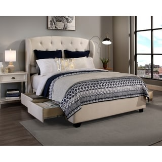 king platform bed frame with storage. Fine With Republic Design House Archer Fabric Upholstered Storage Bed To King Platform Frame With