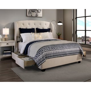 Republic Design House Archer Fabric Upholstered Storage Bed  sc 1 st  Overstock.com & Buy Storage Bed Queen Online at Overstock.com | Our Best Bedroom ...