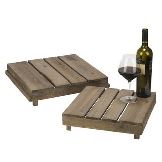 Decorative Wooden Pallet Risers, Set of 2