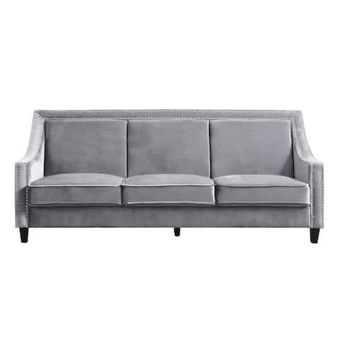 Chic Home Kameron Velvet Upholstered Sofa