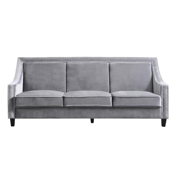 Chic Home Kameron Velvet Upholstered Sofa. Opens flyout.