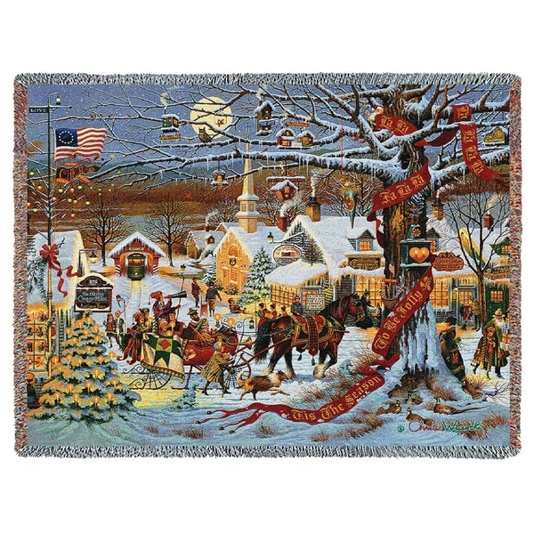 small town christmas blanket - Small Town Christmas