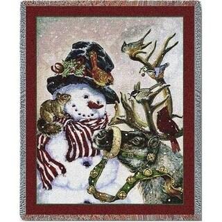 Snowman And Prancer Blanket