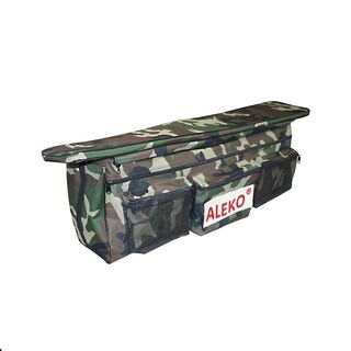 """ALEKO Seat Cushion Under Seat Bag 38""""X9"""" with Pockets For Boat CAMO"""